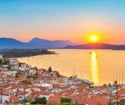 Poros Island sunset